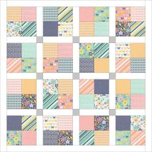Lattice-style baby quilt!