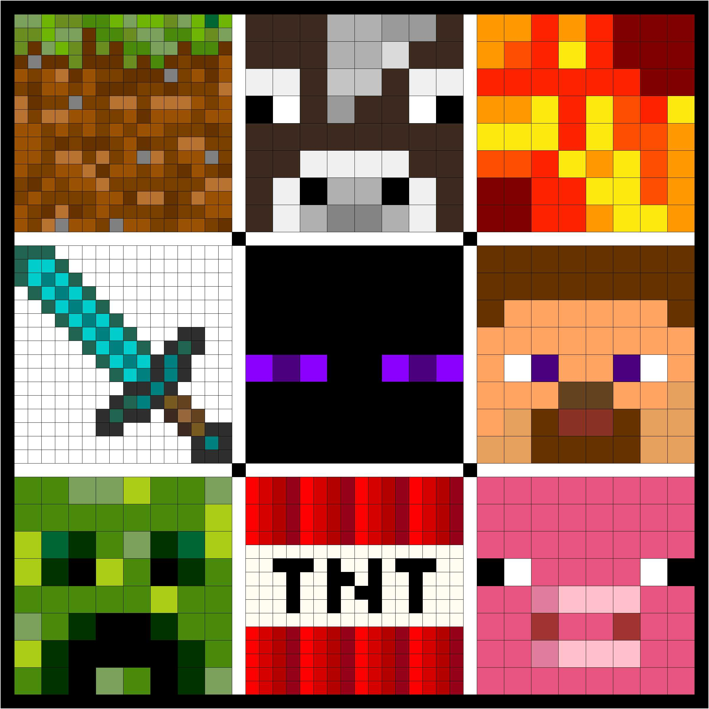 Video Game Quilt Design Minecraft
