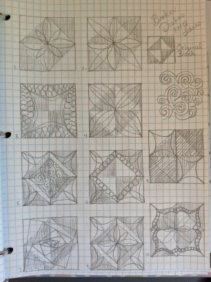 The different patterns I 'auditioned'.
