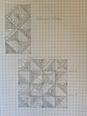 Final two patterns and the center pattern.